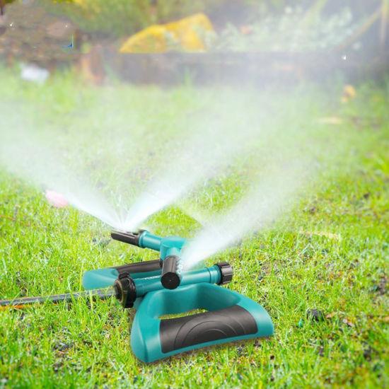 Garden Sprinkler Irrigation System 360 Degree 3 Arm Sprinkler for Lawn Irrigation