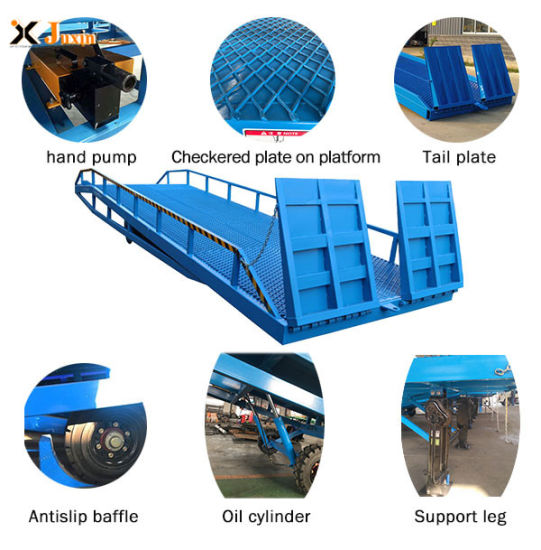 8 Tons Hydraulic Mobile Adjustable Loading Dock Ramp for Sale with Dcqy12-0.8