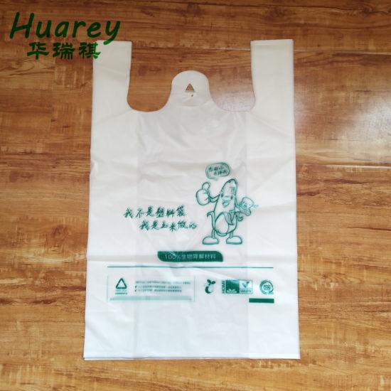 Cornstarch Based Biodegradable T-Shirt Shopping Plastic Bag Wholesale
