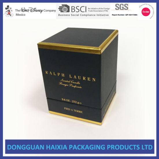 Customized Cardboard Candle Gift Box Wholesale (HX-GB076)