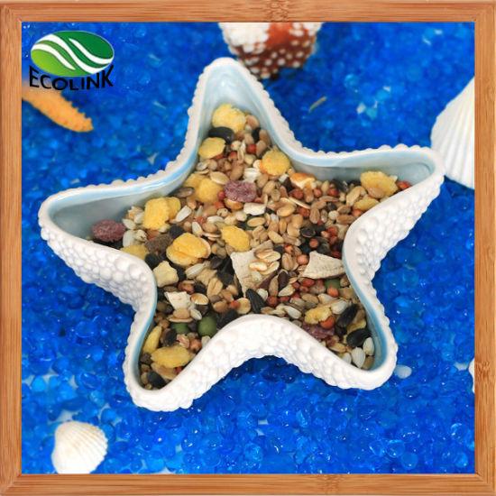 Starfish Pattern Solid White Blue Style Hamsters Habitat Ceramics Toys Water Food Pot