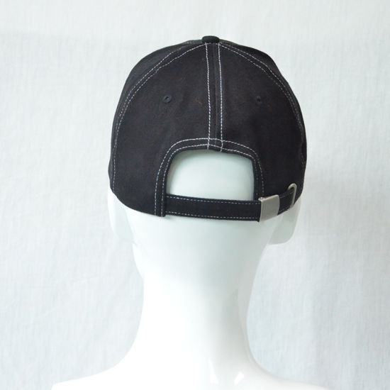 Custom Fashion Black Embroidery Cotton Twill Baseball Cap pictures & photos