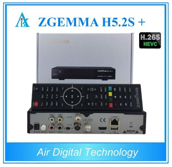 Zgemma H5.2s Plus Multi-Stream Satellite Receiver Dual Core Linux OS Hevc/H. 265 DVB-S2+DVB-S2/S2X/T2/C Triple Tuners pictures & photos