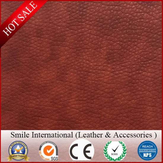 Modern Design Artificial Leather Double Color PVC Vegan Leather for Handbag Factory Price Hot pictures & photos