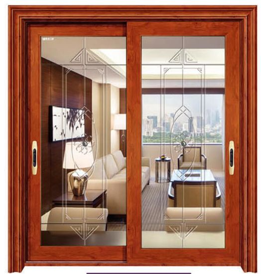 China Interior Insulated Glass Aluminum Sliding Door For Tv Room