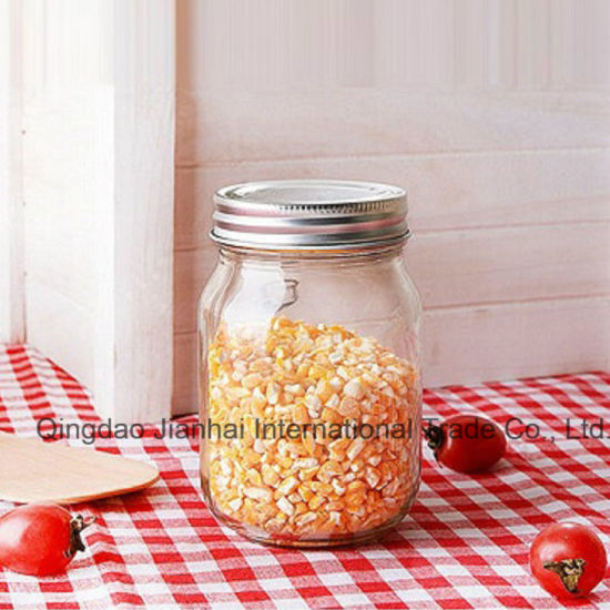 470ml Smooth Surface Round Glass Food Storage Bottle pictures & photos