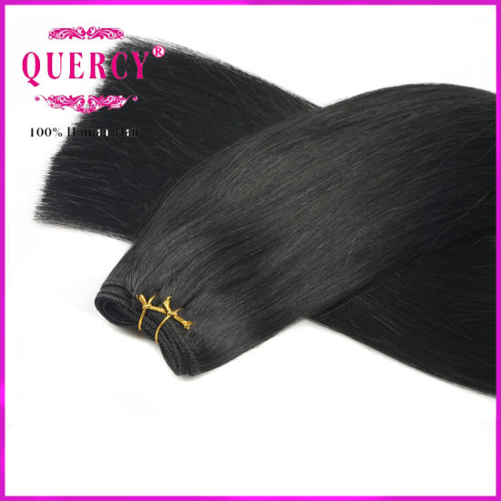 Wholesale Double Drawn Very Thick High Quality Human Brazillian Straight Human Hair Weave pictures & photos