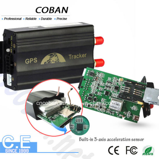 Vehicle GPS Tracker Coban 103A with Sos Alarm/ Acc Alarm/ Shock Alarm/ Door Open Alarm/ Fuel Alarm pictures & photos