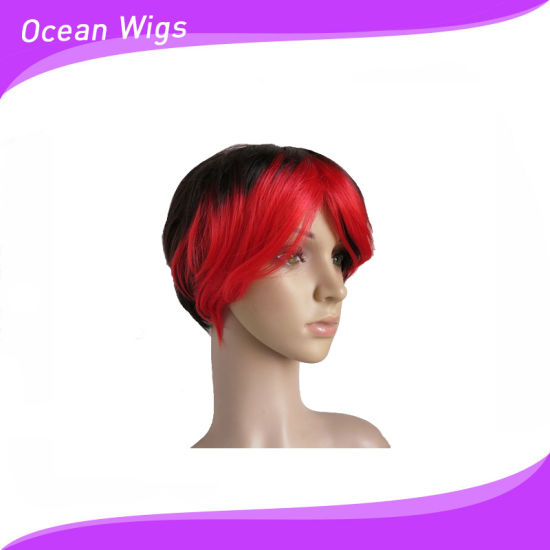 Hotsale Straight Women Hair Machine Synthetic Wigs pictures & photos
