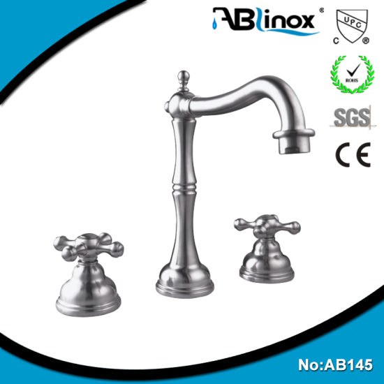 China Two Handle European Faucet Wash Basin Water Tap (AB145 ...