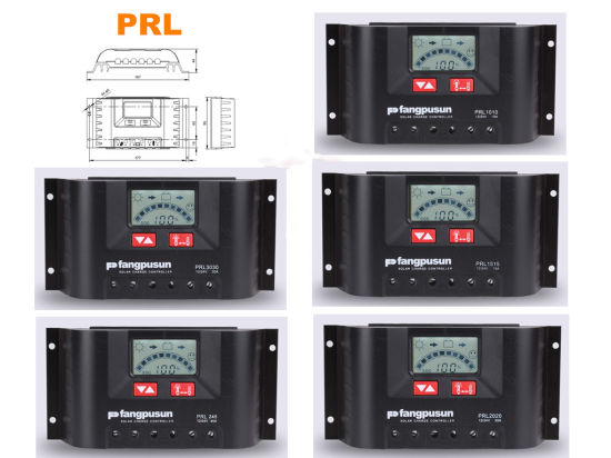 Ce RoHS 10A 15A 20A 30A Hybrid Solar Panel System Intelligent Charger Controller LCD 12V/24V