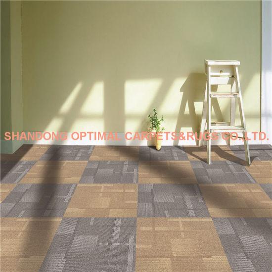 Commercial Usage Office PVC Floor 100% PP Carpet Tiles 50X50