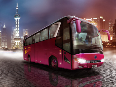 Sunlong Hot Sale Popular Model Diesel Passenger Bus (Slk6118A) pictures & photos
