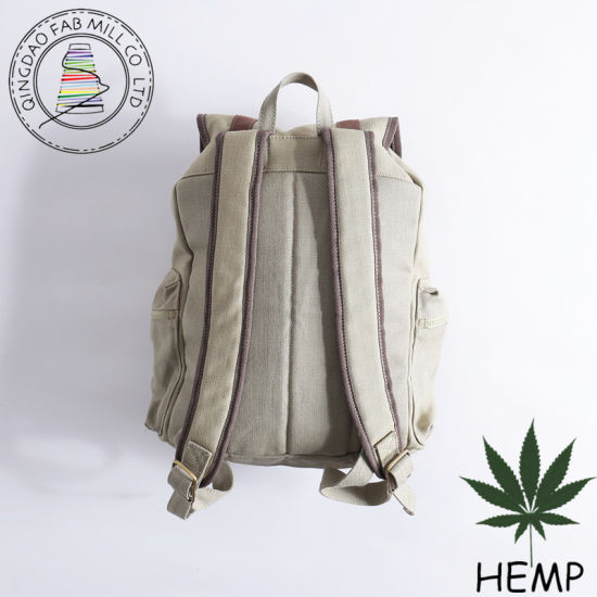 Durable Hemp Backpack Bag (HBB-01) pictures & photos