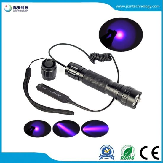 CREE 3W 365nm Rechargeable High Power UV Flashlight for Jade Detection