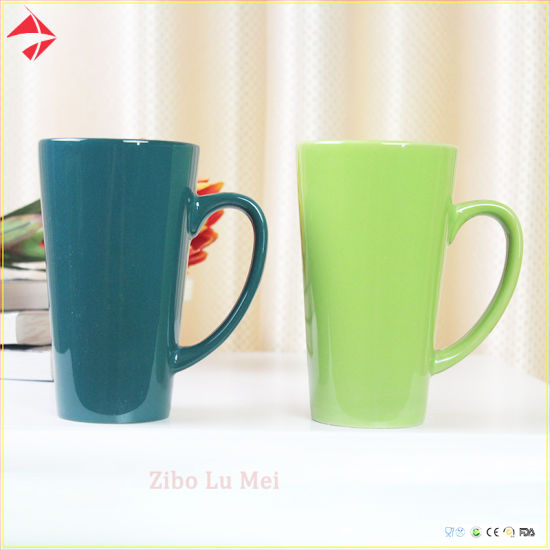 Wholesale Tea Cup V Shape Ceramic Coffee Mug/Ceramic Mug Set for Gift pictures & photos