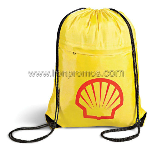 Custom Logo Shell Draw String Back Bag pictures & photos