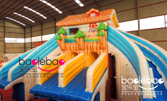 Housing Link Inflatable Water Slide Match With Frame Pool