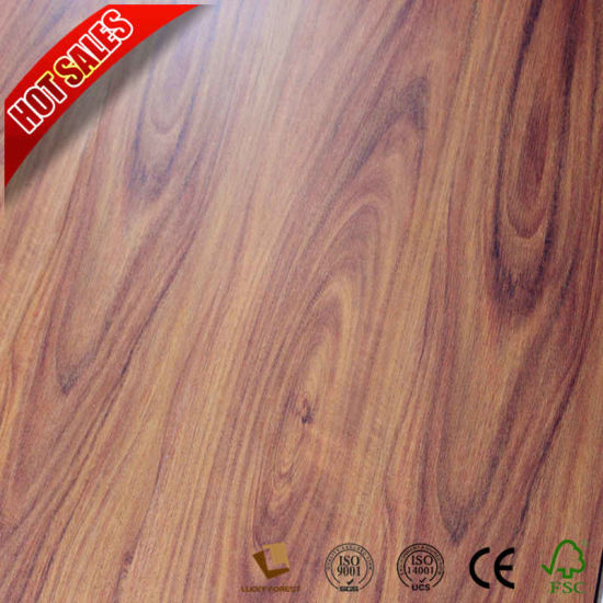 China Export Philippines Australia Teak Laminate Wood Flooring 8mm