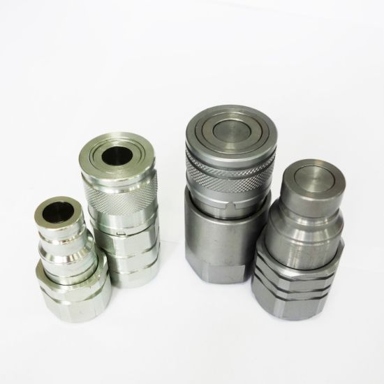 Double Shut off Non-Spill Hydraulic Quick Disconnects Coupler Flat Face ISO 16028