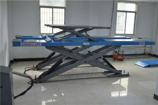 Ce Ultra-Thin Big Scissor Lift with 5000kg (SHL-Y-J-50CCBL) pictures & photos