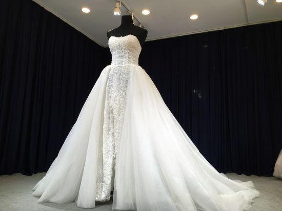 China Aoliweiya Elegant 2 in 1 Detachable Train Wedding Dress ...