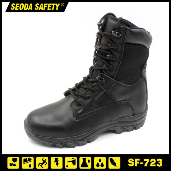 China Cheap Police Military Combat Boots Manufacturer China Safety