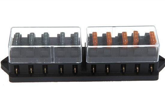 10 way car truck automotive blade fuse box block holder circuit ato atc