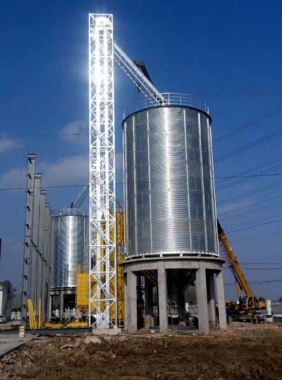China Easy Installation Hopper Bottom Grain Silos/Steel Silo Bin for
