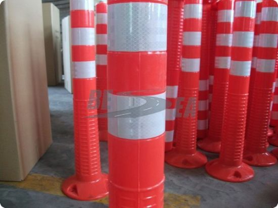 Orange Color PU Road Flexible Spring Post (DH-FP-80) pictures & photos