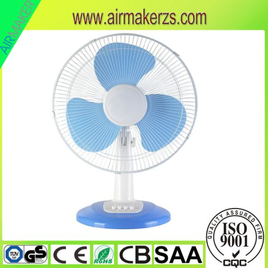 "12"" Hot Sale Oscillation Plastic Table Fan with GS/CB pictures & photos"