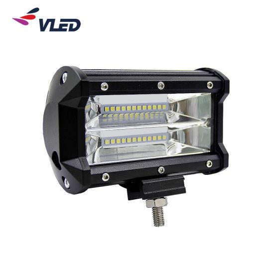 Offroad 5'' Double Row LED Light Bar Pod Truck Driving Lamp Spot Beam IP69K