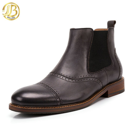 Chelsea Slip on Winter Wear Genuine Leather Ankle Boots for Men pictures & photos
