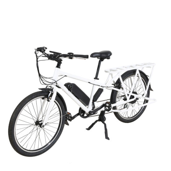 New Design 26inch Longtail Cargo Electric Bike 48V350W for Adult