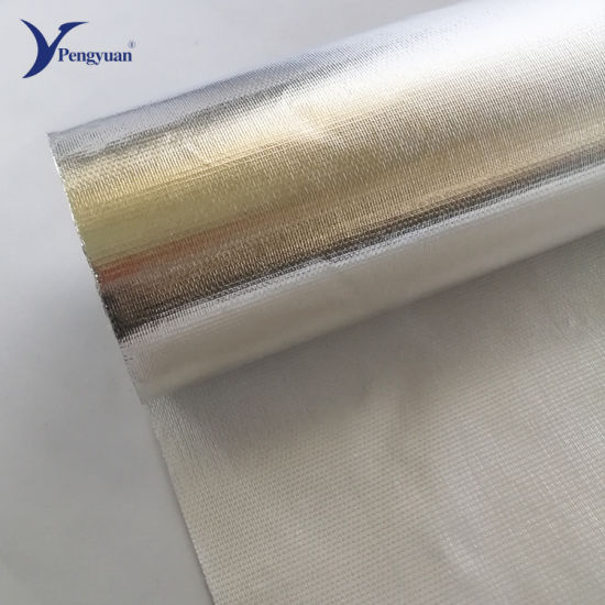 Aluminum Foil Laminated Fiberglass Cloth for Roof Heat Insulation