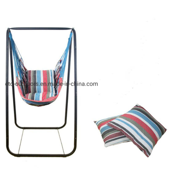 Brilliant Outdoors Camping Canvas Hammock Swing Chair With Stand Short Links Chair Design For Home Short Linksinfo
