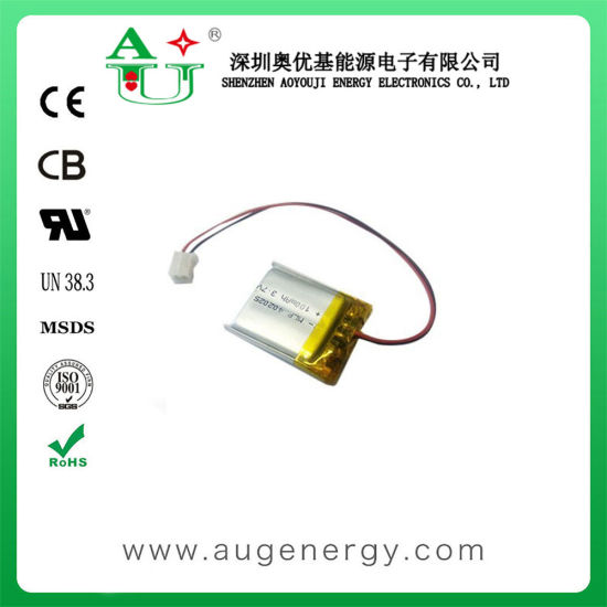 3.7V 100mAh 402025 Li-Polymer Battery with PCB for Smart Watch