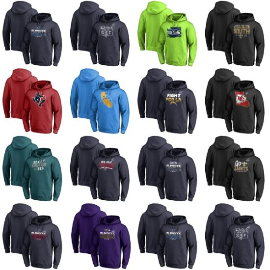 Wholesale 2018 N-F-C Division Champions Playoffs Fair Catch Pullovers Hoodies