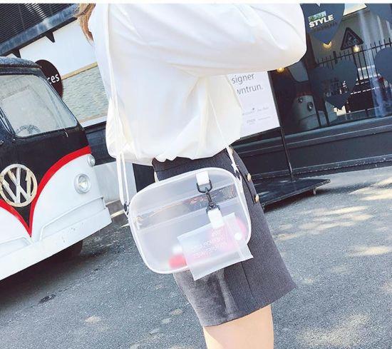 Women's Transparent Cross Body Bag Summer Jelly PVC Beach Bag
