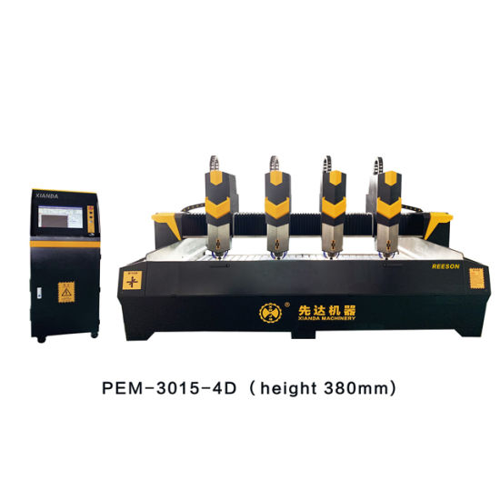 Stone CNC Router Stone CNC Router Pem-3015-4D 4 Heads Marble CNC Stone Diamond Engraving Machine