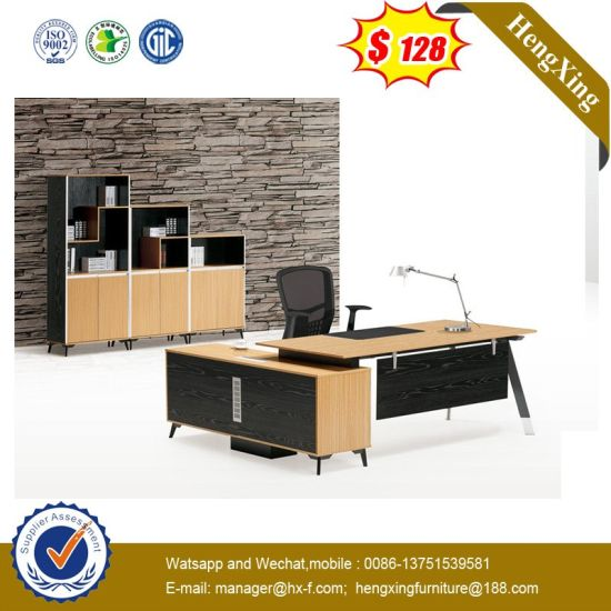 Leather Pad Boss Manager Maple Color Hospital Office Executive Table