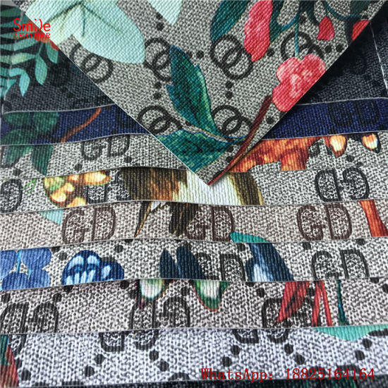 Digital Printing PVC Artificial Leather for Handbags Shoes