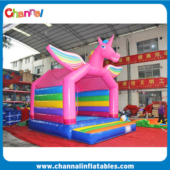 Rainbow Inflatable Jumper PVC Unicorn Bouncer pictures & photos