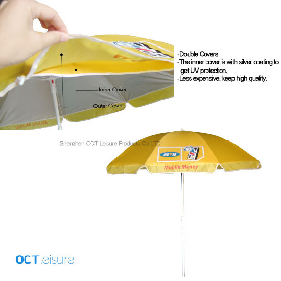 Double Layers Beach Parasol with UV Protection and Helpful Price (OCT-BUAD16)