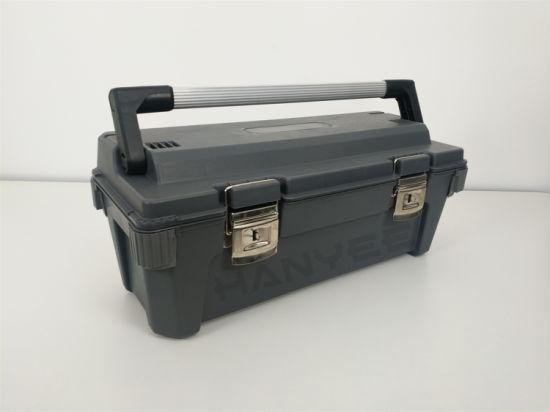 Portable Plastic Tools Set Box /Storage/ Case/Cabinet/ Chest with Aluminum Handle