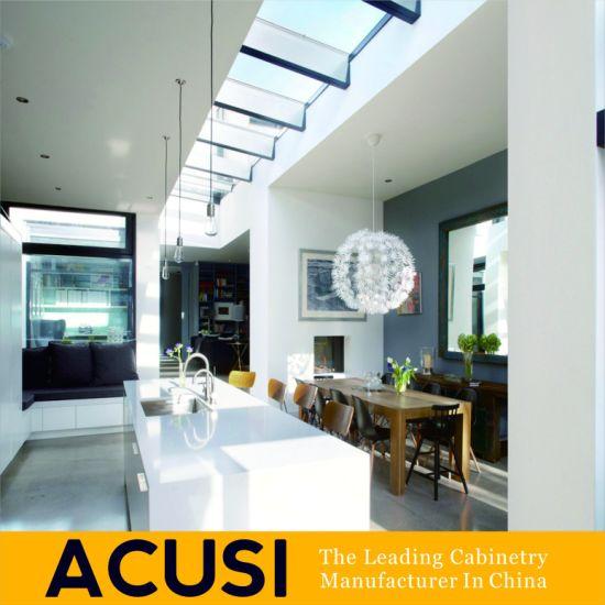 Wholesale Kitchen Furniture 2 PAC Matt Lacquer Australia Project Melamine Wooden Kitchen Cabinets (ACS2-L04)