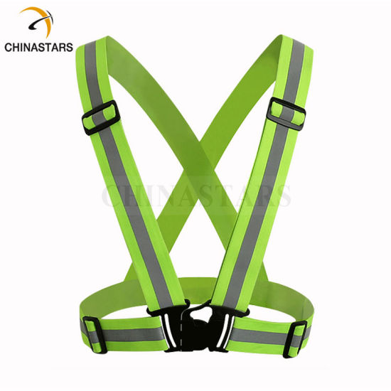 Wholesalers Unisex Working Riding Running Safety Reflective Shoulder Belt Vest Sports Safety Vest Suit for Children and Adult pictures & photos