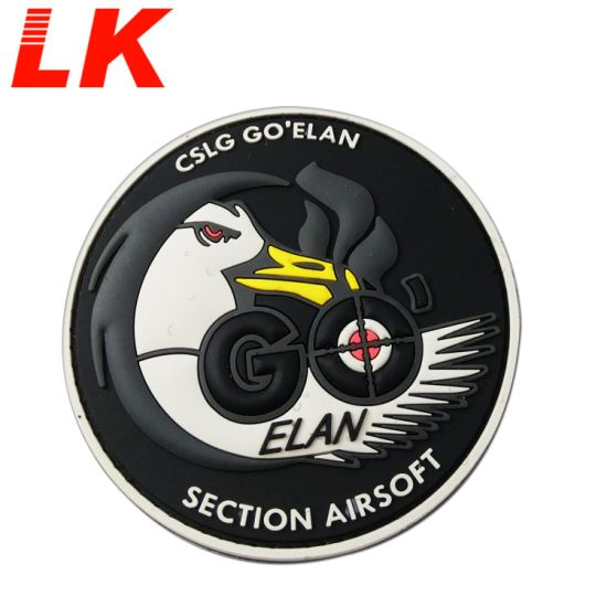 China Customized 2D PVC Military Style Rubber Patches with