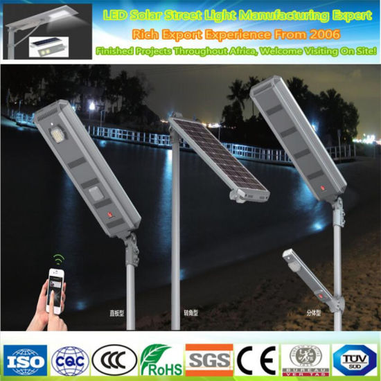 All in One 40W Integrated LED Solar Street Light Lamp
