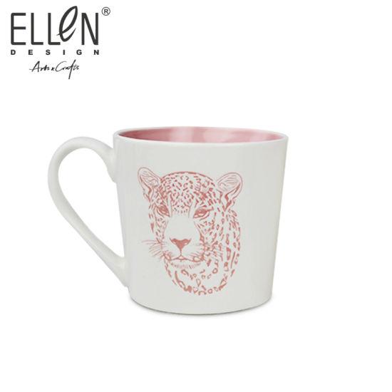 New Bone China Handprinted Ceramic Coffee Mug